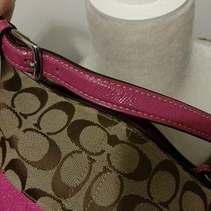 Coach Bags - Coach signature and pink small handbag